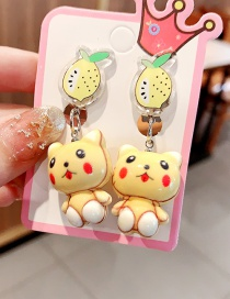Fashion Cute Cat (with Battery) Will Shine Fruit Animal Children Hairpin