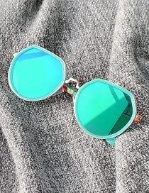 Fashion Blue Anti-ultraviolet Alloy Children Sunglasses