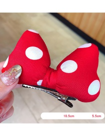 Fashion Trumpet Hairpin Fabric Large Butterfly Wave Point Sponge Children Hairpin