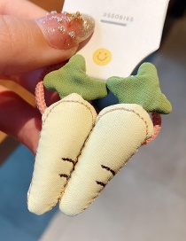 Fashion Beige-carrot Fabric Fruit Food Fruit Bowknot Children Hair Rope Set