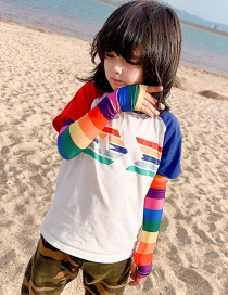 Fashion Rainbow Ultra-thin Sunscreen Printed Animal Flower Fruit Children Ice Sleeve