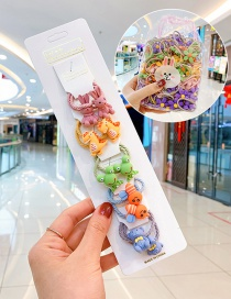 Fashion 10 Small Crocodiles In Bags Candy Animal Fruit Flower Contrast Elastic Hair Rope