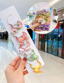 Fashion 10 Bags Of Small Dinosaurs Candy Animal Fruit Flower Contrast Elastic Hair Rope