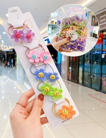 Fashion Smiley Little Flower 10 Bags Candy Animal Fruit Flower Contrast Elastic Hair Rope