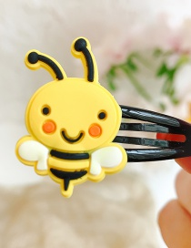 Fashion Bee Flower Animal Hit Color Alloy Rubber Children Hairpin