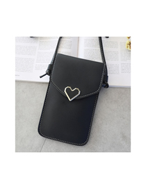 Fashion Black Caring Metal Transparent Touch Screen Multifunctional Mobile Phone Bag