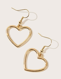 Fashion Golden Alloy Love Hollow Earrings