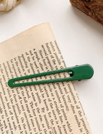 Fashion Green Duckbill Clip With Alloy Geometric Hollow And No Trace