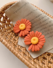 Fashion Orange Small Daisy Alloy Hit Color Hairpin