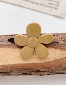 Fashion Yellow Flowers Resin Flower Love Heart Shape Hollow Hairpin