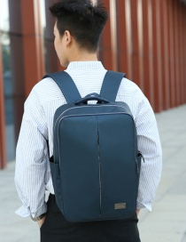 Fashion Blue Solid Color Polyester Metal Standard Backpack