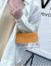 Fashion Yellow Laser Transparent Jelly Chain Shoulder Bag