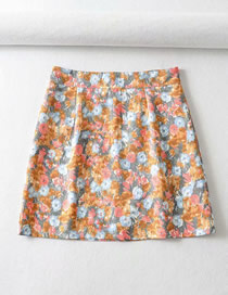 Fashion Zou Juhuang Floral A-line Skirt (with Safety Pants)