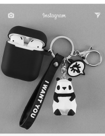 Fashion Panda + Earphone Bag Geometry Dinosaur Apple Wireless Bluetooth Headset Silicone Case