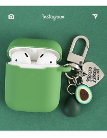 Fashion Sunflower Seed + Green Headphone Case Avocado Love Sunflower Seeds Wireless Bluetooth Headset Silicone Case