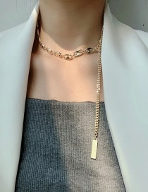 Fashion Golden Chain Alloy Tassel Necklace
