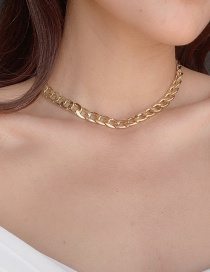 Fashion Golden Chain Alloy Hollow Necklace
