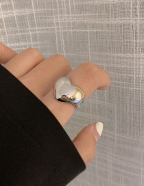 Fashion Love (no. 7) Glossy Love Triangle Drop-shaped Open Ring