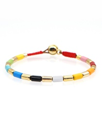 Fashion Color Mixing Zinc Alloy Baking Enamel Bracelet