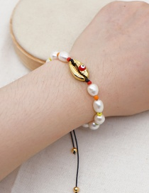 Fashion White Shell Hand-woven Natural Freshwater Pearl Bracelet