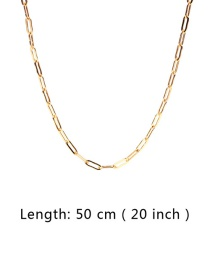 Fashion Gold 50cm Thick Chain Stainless Steel Hollow Necklace
