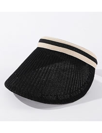 Fashion Black Knitted Breathable Sunscreen Top Hat