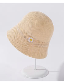 Fashion Beige Daisy Embroidered Fisherman Hat