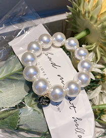 Fashion Round Bead Pearl Love Round Bead Matte Highlighted Hair Rope