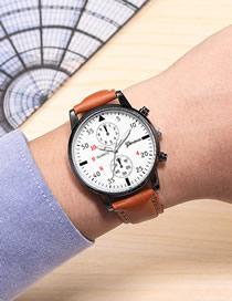 Reloj De Cuarzo Ultrafino De Dos Ojos Para Hombre Con Correa De Acero Inoxidable