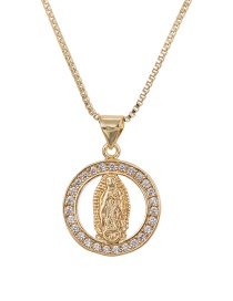 Fashion Golden Our Lady Of Zircon Necklace