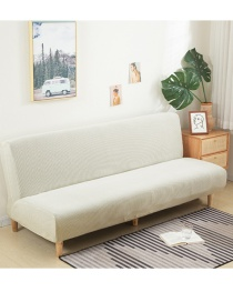 Fashion White Solid Color Corn Wool All-inclusive Dustproof Stretch Sofa Cover