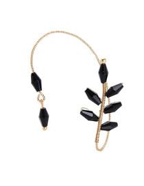 Fashion Black Geometric Ear Ear Leaves Single Ear Hook