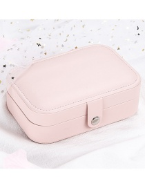 Fashion Cherry Blossom Powder Leather Portable Double-layer Jewelry Box