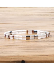 Fashion White Imported Rice Beads Hand-woven Bracelet