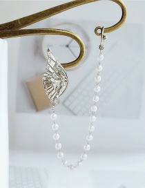 Fashion White Wing Pearl Alloy Single Earring