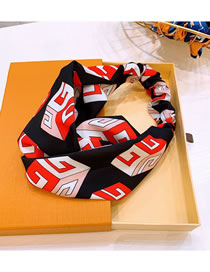 Fashion Black Letters Contrast Color Wide-brimmed Hair Band
