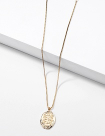 Fashion Golden Totem Indian Head Coin Alloy Pendant Necklace