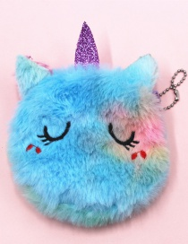 Fashion Shy Unicorn Cat Embroidery Children's Plush Coin Purse