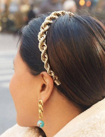 Fashion Golden Twisted Rope Alloy Fine-edged Headband