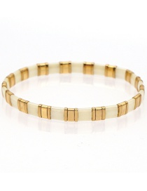 Fashion Golden Imported Hand-woven Rice Beads High Elasticity Bracelet