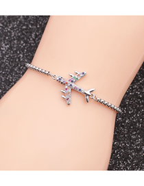 Fashion Aircraft Stainless Steel Chain Aircraft Adjustable Bracelet