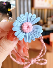 Fashion Blue Daisy Small Daisy Resin Hit Color Knotted High Elastic Hair Rope