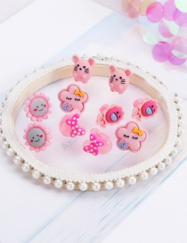 Fashion Pink Flower Series (10 Pack) Resin Fruit Flower Animal Children Doudou Buckle Clip
