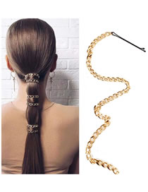 Fashion Golden Fringed Gold-plated Word Clip Hairpin