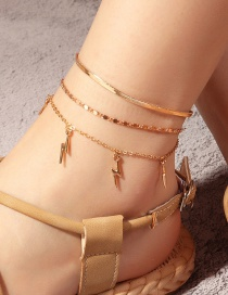 Fashion Golden Snake Chain Flash Current Su Alloy Anklet Set
