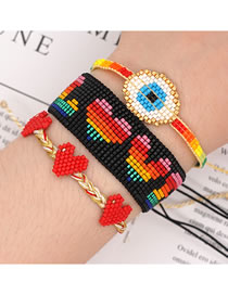 Fashion Set Mizhu Love Rainbow Multilayer Tassel Bracelet