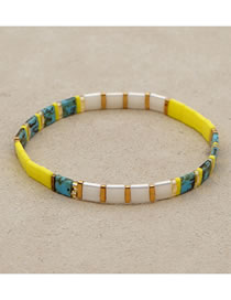 Fashion Yellow Beaded Bracelet