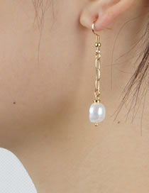 Fashion Pearl Pearl Hoop Earrings