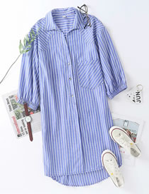 Fashion Stripe Striped Shirt Dress