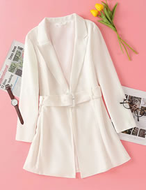 Fashion White Jacket Dress